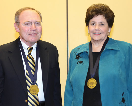 Miriam Leiva and Christian Hirsch, MET Lifetime Achievement Award Winners