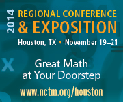 Join us for NCTM's Regional Conference & Exposition in Houston, November 19-21