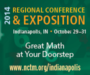 Join us for NCTM's Regional Conference & Exposition in Indianapolis, October 29-31