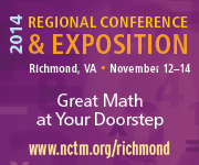Join us for NCTM's Regional Conference & Exposition in Richmond, November 12-14