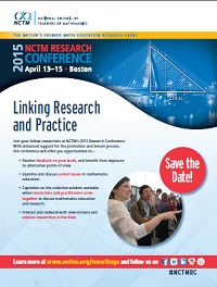 2015 NCTM Research Conference Flyer