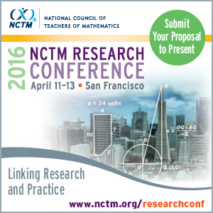 Submit Your Proposal to Present at the 2016 NCTM Research Conference