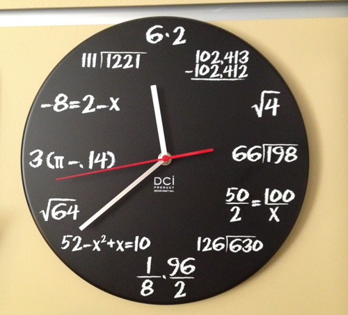 Math Clock with Errors