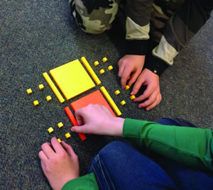 Children using Base-Ten Blocks