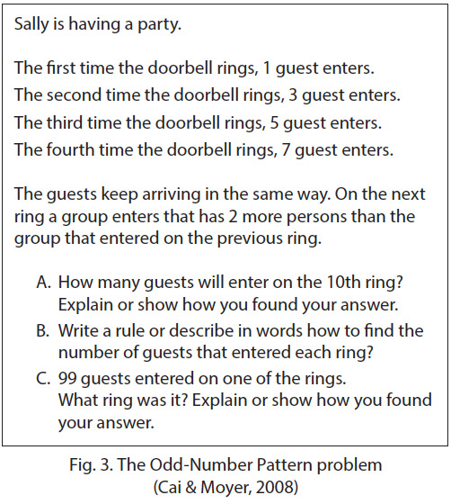 The odd-number pattern problem